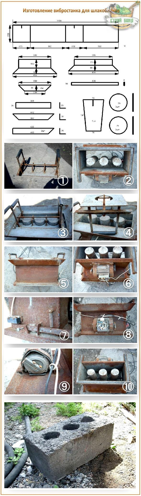 формы для изготовления шлакоблока своими руками