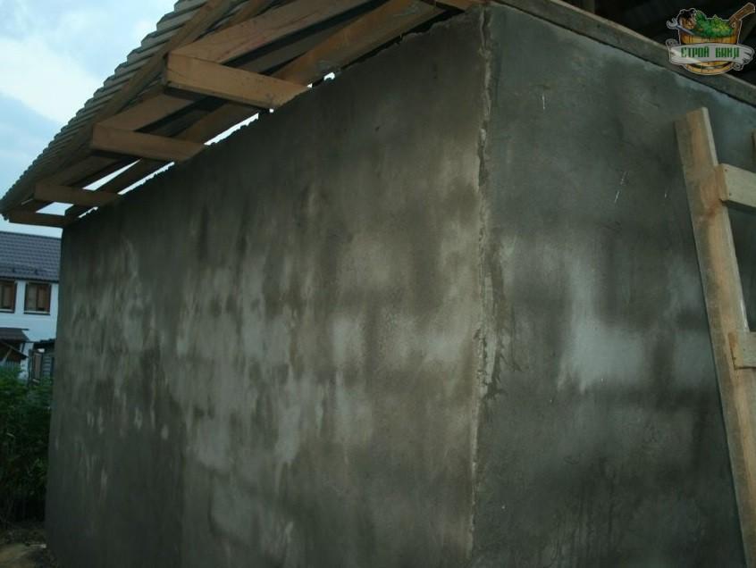 Оштукатуривание стен цементным раствором