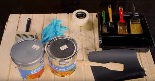 Материалы и инструменты для обработки вагонки