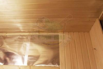 Вагонка на стенах сауны